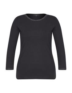 Bexleys woman - Einfarbiges Shirt mit Glitzersteinen