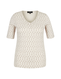 Bexleys woman - Elastisches Baumwoll-Shirt mit Phantasiedruck