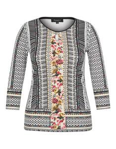 Bexleys woman - Langarmshirt mit phantasievollem Druck und Cut-Out