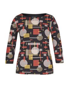 Bexleys woman - Shirt mit modischem Alloverprint aus Organic Cotton