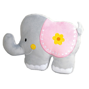 Dreamtex Junior Plüschkissen - Elefant rosa