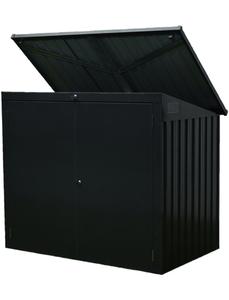 Mülltonnenbox, BxHxT: 158 x 134 x 101 cm, anthrazit