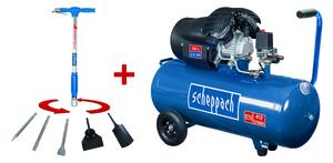 Scheppach XXL Profi-Hochdruckset HC120DC + Aero2Spade