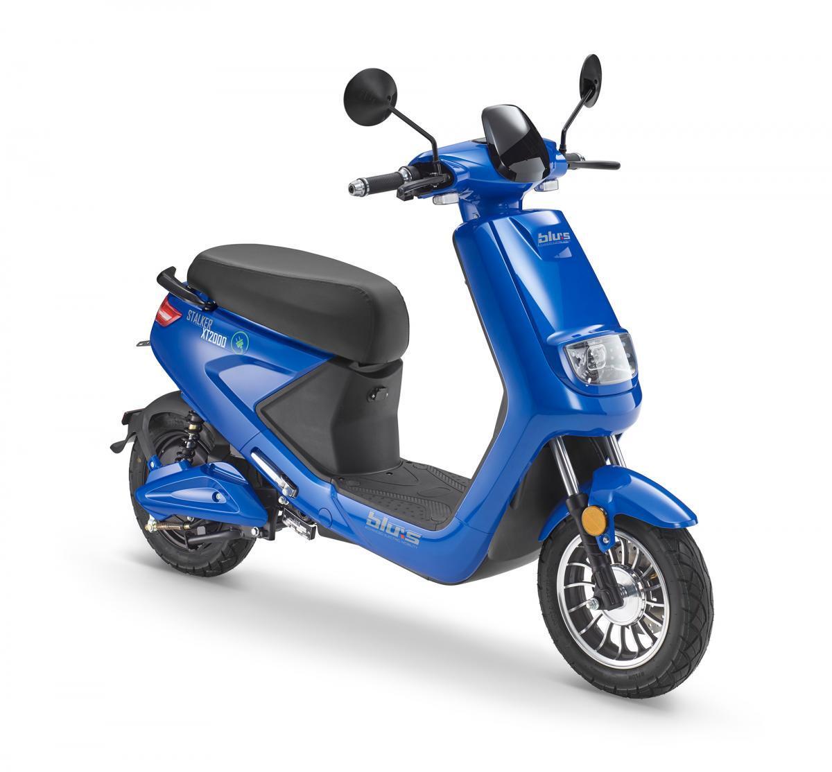 Bild 1 von Blu:s XT2000 Elektroroller STALKER (25km/h), blau
