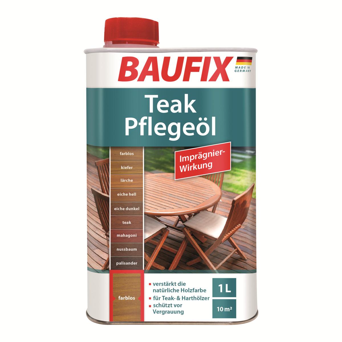 Bild 1 von BAUFIX Teak-Pflegeöl eiche hell 2- er Set