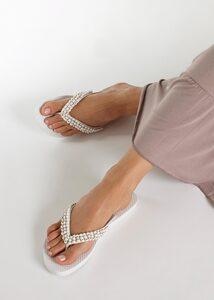 LASCANA Zehentrenner mit Perlen