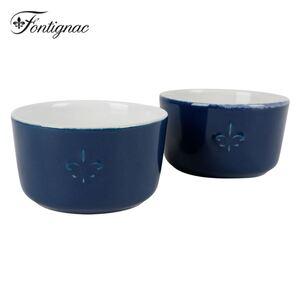 Fontignac Keramikförmchen Dunkelblau 2er-Set
