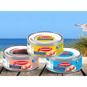 Saupiquet Thunfisch Stücke in Öl, Wasser oder Olivenöl jede 185g-Dose / 140g-Abtropfgewicht
