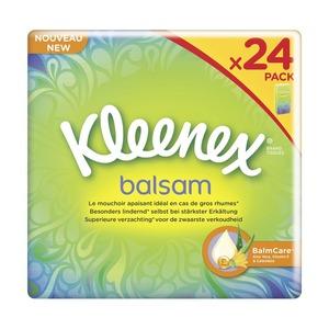 Kleenex Balsam Taschentücher 4-lagig, 24 x 9 Blatt, jede Packung
