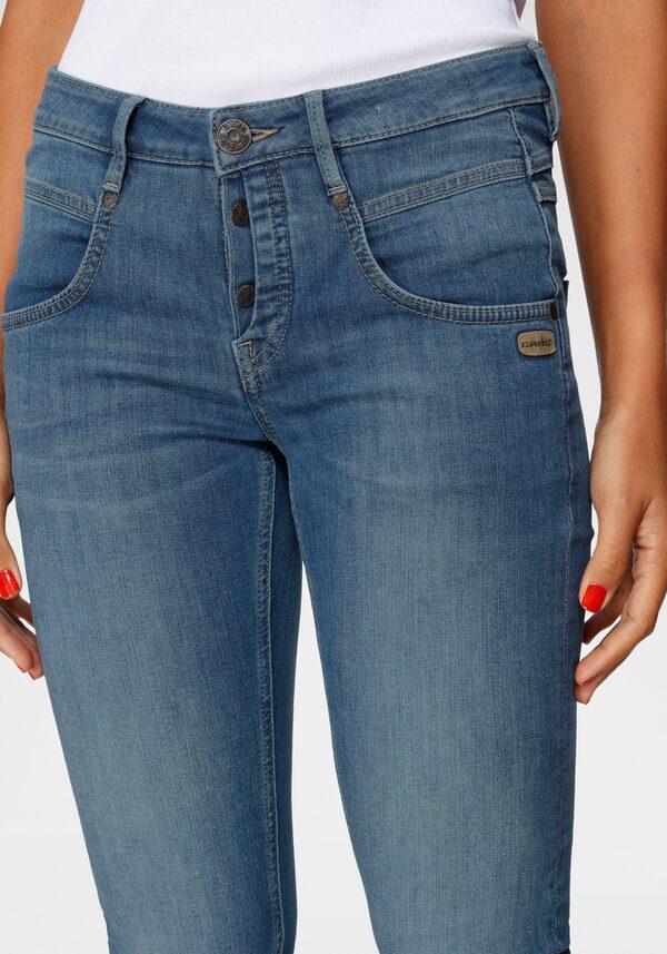 GANG Skinny-fit-Jeans »Medina« mit stylischer halb offener Knopfleiste