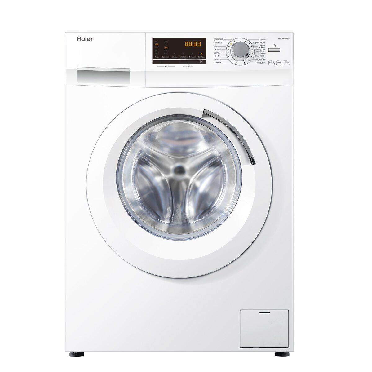 Bild 1 von Haier Waschmaschine HW100-14636, 10 kg, 1400 U/Min, AquaProtect Schlauch Woolmark-zertifiziertes Wollwaschprogramm