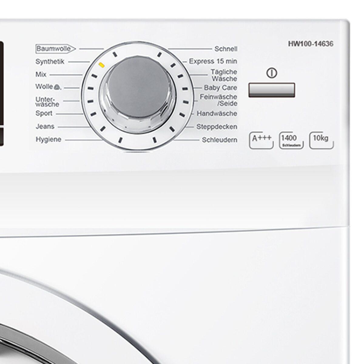 Bild 4 von Haier Waschmaschine HW100-14636, 10 kg, 1400 U/Min, AquaProtect Schlauch Woolmark-zertifiziertes Wollwaschprogramm