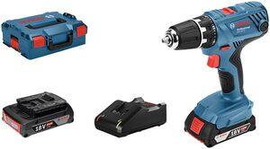 BOSCH PROFESSIONAL Akku-Bohrschrauber »GSR 18V-21«, 18 V, 2 Ah, 55 Nm, inkl. 2 Akkus, Ladegerät und Koffer