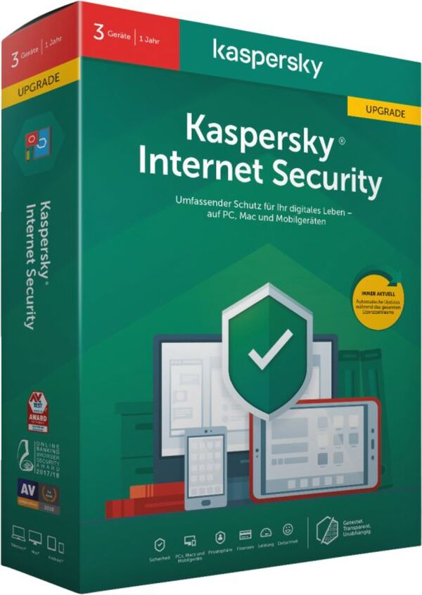 Kaspersky Internet Security 3 Geräte Upgrade (2020)