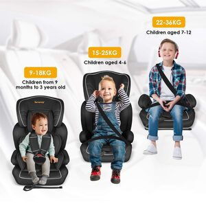 besrey Autokindersitz »Besrey Kinderautositz Autositz Gruppe 1/2/3 (9-36kg). Auto Kindersitz für Kinder 9 Monaten-12 Jahre. ECE R44/04«, 6.1 kg