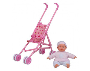 Babypuppe mit Buggy
