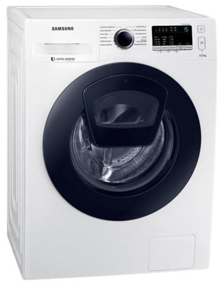 Bild 1 von Samsung WW4500 WW90K44205W/EG AddWash Waschmaschine (Energieeffizienzklasse A+++, 9 kg, 1400 U/min, SmartCheck, ECO Trommelreinigung, Weiß)