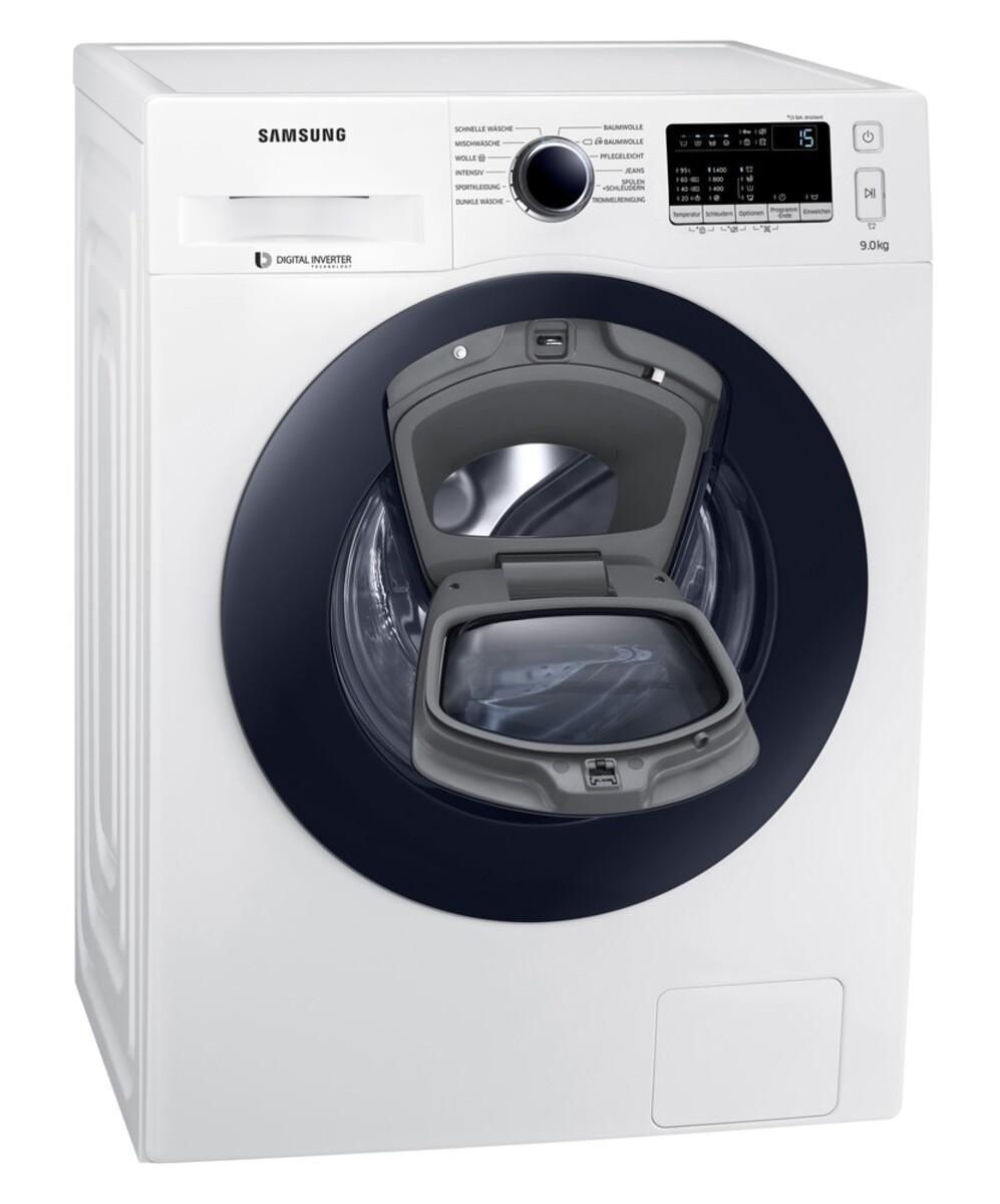 Bild 2 von Samsung WW4500 WW90K44205W/EG AddWash Waschmaschine (Energieeffizienzklasse A+++, 9 kg, 1400 U/min, SmartCheck, ECO Trommelreinigung, Weiß)
