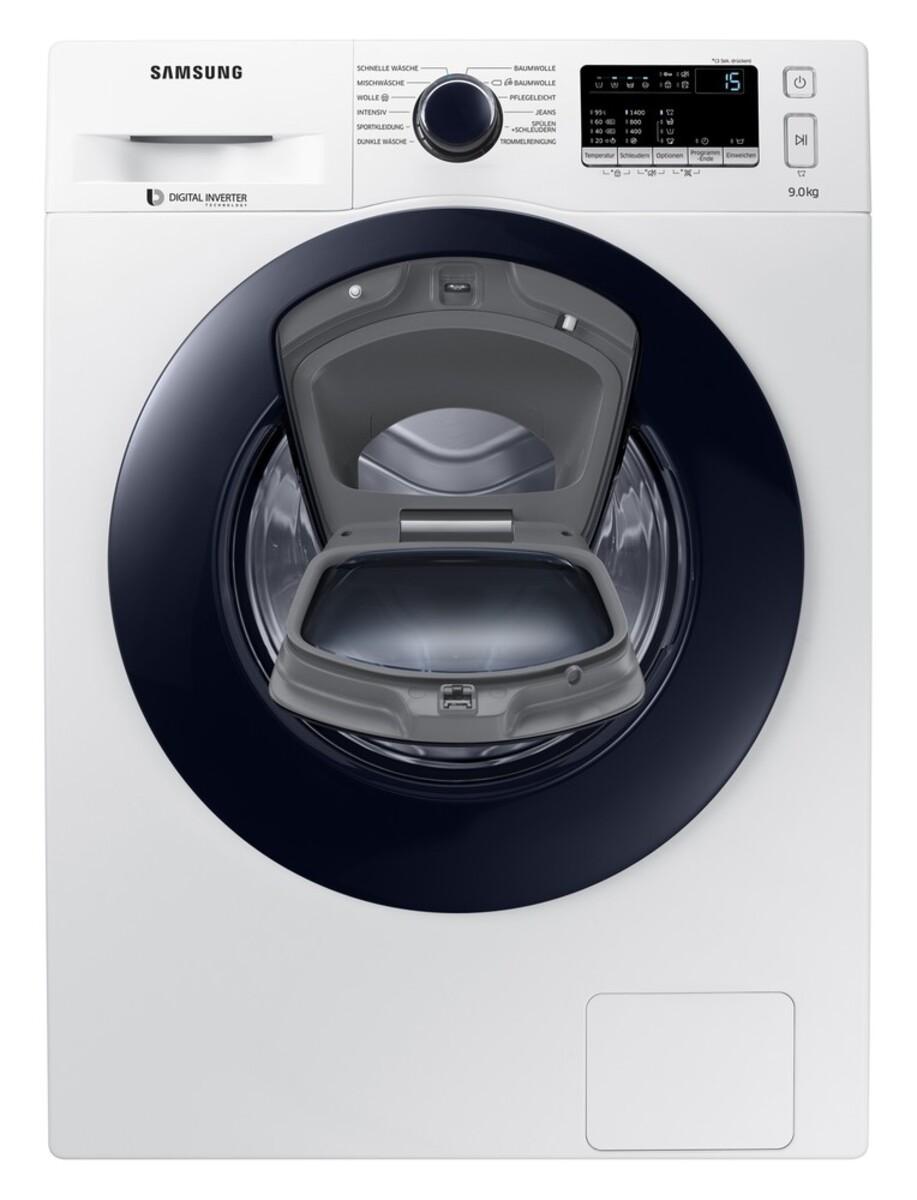 Bild 3 von Samsung WW4500 WW90K44205W/EG AddWash Waschmaschine (Energieeffizienzklasse A+++, 9 kg, 1400 U/min, SmartCheck, ECO Trommelreinigung, Weiß)