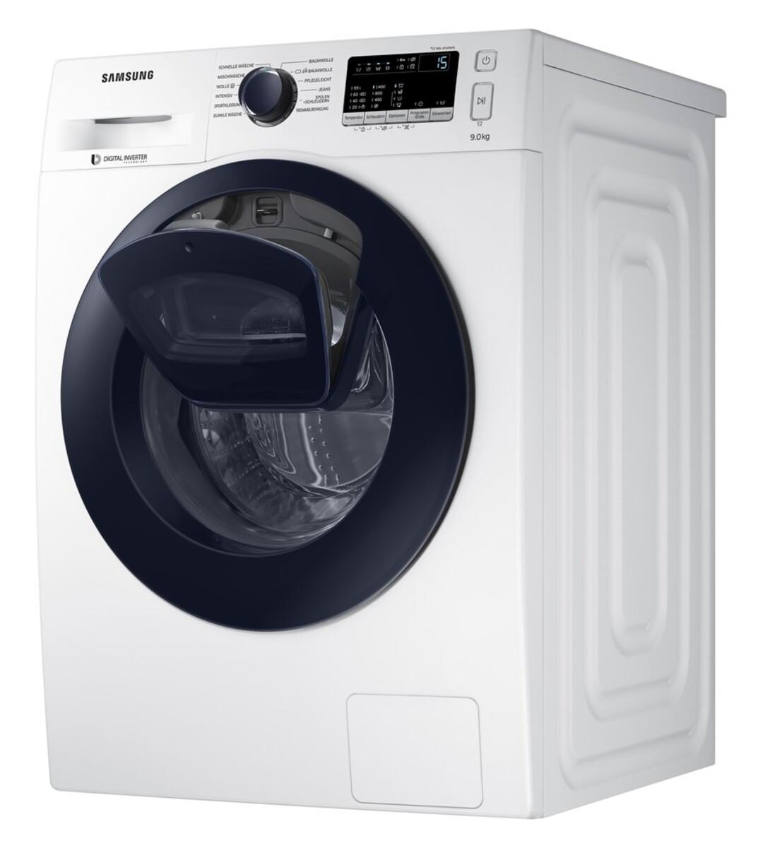 Bild 5 von Samsung WW4500 WW90K44205W/EG AddWash Waschmaschine (Energieeffizienzklasse A+++, 9 kg, 1400 U/min, SmartCheck, ECO Trommelreinigung, Weiß)