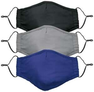3-tlg.-Set Gesichtsmasken Mund-Nasenschutz