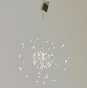 LED Deko Lichtobjekt zum Hängen mit 8 warmweißen LEDs