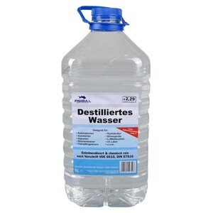 Destilliertes Wasser 5 Liter entionisiert VDE 0510