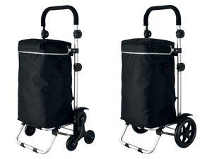 TOPMOVE® Einkaufstrolley, 40 l Fassungsvermögen, Aluminiumgestell mit Transportfläche