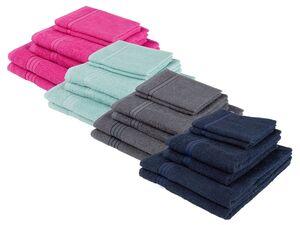 MIOMARE® Frottierset, 6-teilig, Duschtuch, Duschtuch, Handtuch, aus reiner Baumwolle