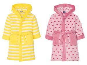LUPILU® Kinder Bademantel Mädchen, mit Kapuze, aufgesetzte Taschen, Mikrofaser-Qualität