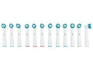 NEVADENT® Zahnbürstenköpfe »NZK 6 A1«, 12er Set, abgerundete Borsten, farbige Kennzeichnung