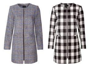 ESMARA® Mantel Damen, in Wolloptik, mit Eingrifftaschen, Reißverschluss