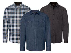 LIVERGY® Jeanshemd Herren, aus reiner Baumwolle
