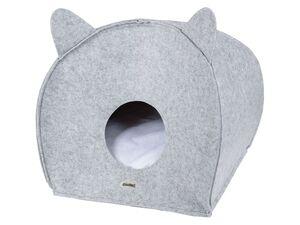 ZOOFARI® Katzenhöhle, zusammenklappbar, mit herausnehmbarem Kissen