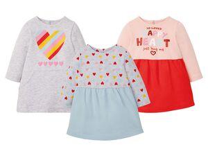 LUPILU® Baby Sweatkleid Mädchen, durchgehende Rückenknöpfung, mit Baumwolle