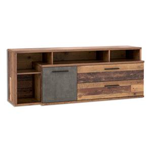 Sideboard - Old Wood Vintage-Betonoptik - 4 offene Fächer