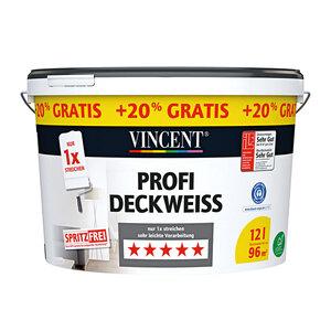 Vincent              Profi Deckweiß spritzfrei, 12 L
