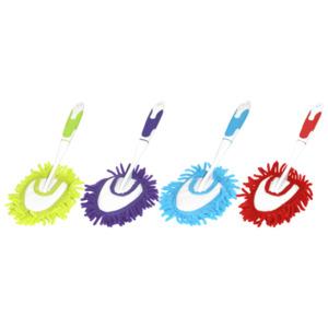 Steuber Chenille Hand-Duster groß rot, blau, kiwi, lila