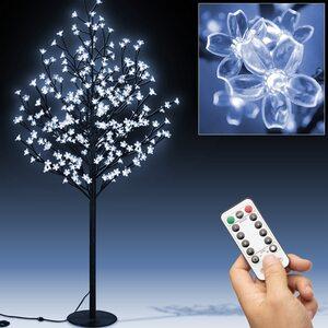 Deuba Kirschblütenbaum mit 200 LED 180cm in blau