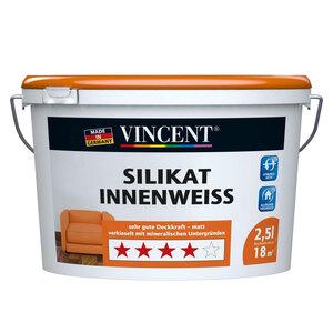 Vincent              Silikat Innenweiß, 2,5 L