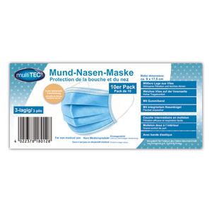 Multitec Mund-Nasen-Maske 3-lagig