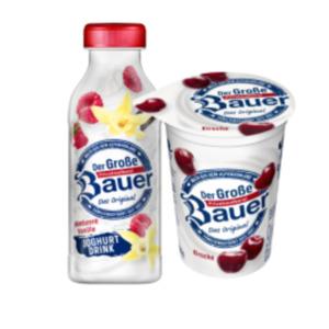 Bauer Fruchtjoghurt oder Joghurt Drink