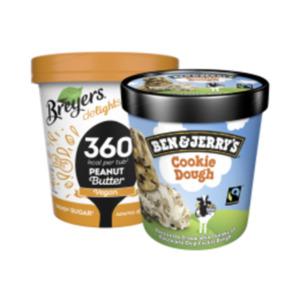 Ben & Jerry's Ice Cream oder Breyers Eis