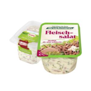 Popp Meister Feinster Fleischsalat oder Bruckmann Fleischsalat