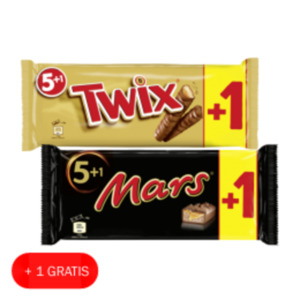 Mars, Snickers oder Twix Multipacks