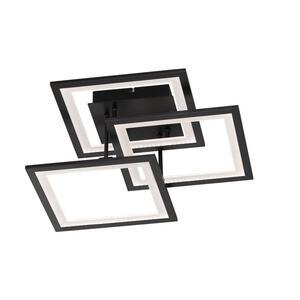 XXXLutz Led-deckenleuchte , 9243.03.10.9300 , Schwarz , Metall, Kunststoff , 51x17x50 cm , 003131073401