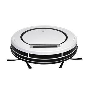 XXXLutz Staubsaugerroboter , SR 3001 , Schwarz, Weiß , Kunststoff , 30x7.5 cm , beutellos, Hepa-Filter, LED-Display, Antistoßkontrolle, Filter auswaschbar , 008021006301