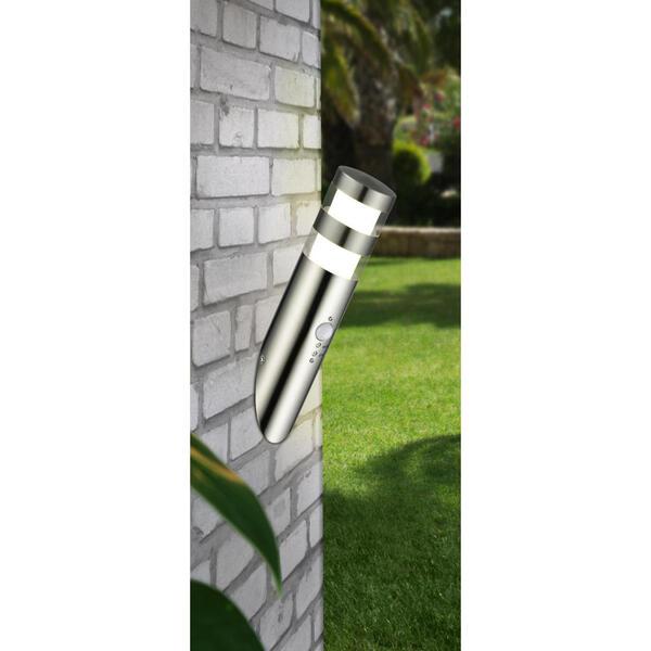 Ambia Garden Außenwandleuchte nickelfarben , Force , Metall , Uni , 7.6x32.7x8.4 cm , matt,matt , Bewegungsmelder , 004073004103