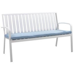 Ambia Garden Gartenbank aluminium , Thann , Weiß, Hellblau , Metall, Textil , 2-Sitzer , 150x90x68 cm , pulverbeschichtet,Webstoff , 002755010222