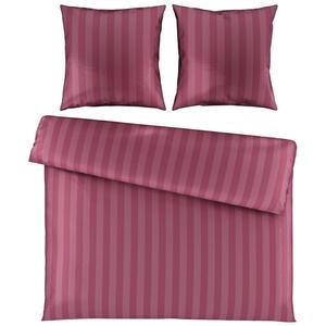 Ambiente Bettwäsche damast pink 200/200 cm , Dobby , Textil , Streifen , 200x200 cm , Damast , 005699003203